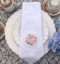 Load image into Gallery viewer, Peonies Design Linen Napkin
