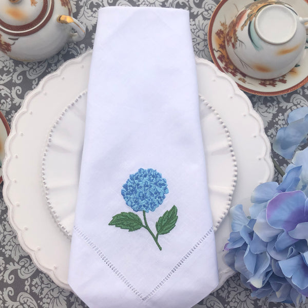 embroidered linen napkin