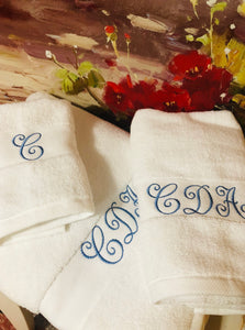 Victorian Monogram Bath Towel Set