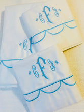 Load image into Gallery viewer, monogrammed bed sheet set