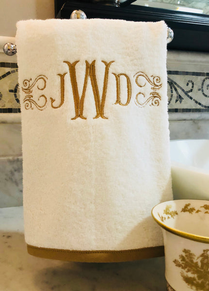 bias trimming hand towel