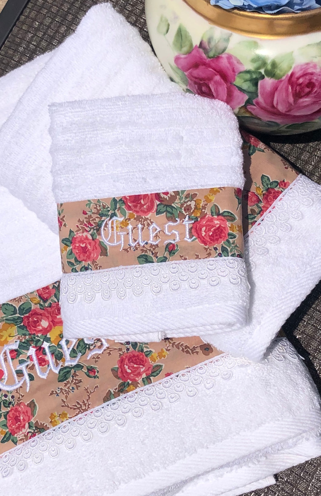 customized towel set