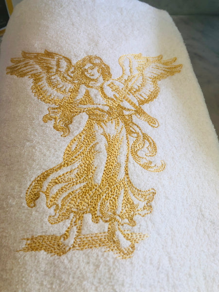 Christmas embroidered hand towel