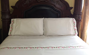custom embroidered bed sheets