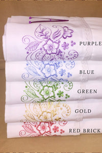 color options for custom bed sheet set