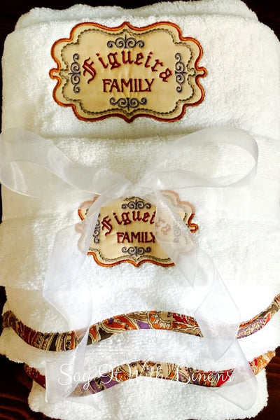 Personalized Paisley Towel Set