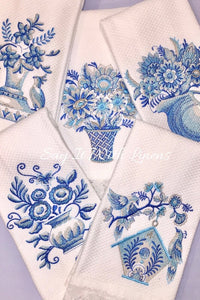 embroidered fingertip towels