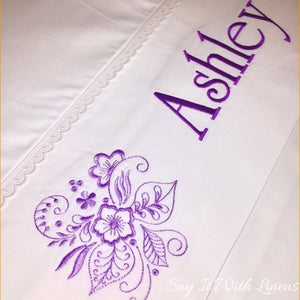 personalized flat bed sheet