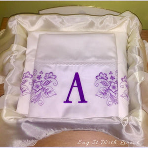 custom bed sheet set purple