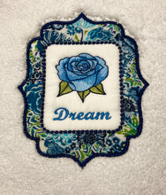 Load image into Gallery viewer, bath towe embroidered with word dream