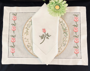 embroidered placemat and napkin sets