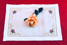 Load image into Gallery viewer, linen embroidered placemat