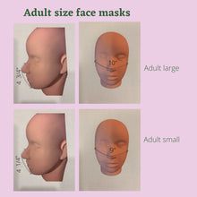 Load image into Gallery viewer, face mask size chart