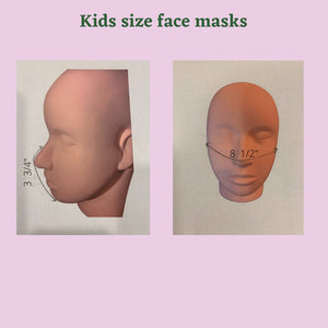 kids masks size chart