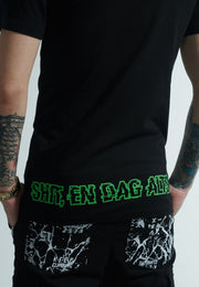 Shit, en dag altså... Freakin' Christmas T-shirt - Black/Green/Red-2-FirstGrade