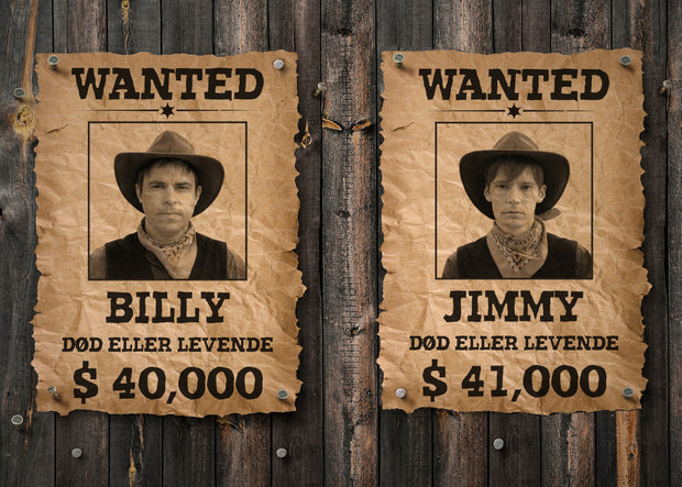 Billy & Jimmy - Wanted Plakat