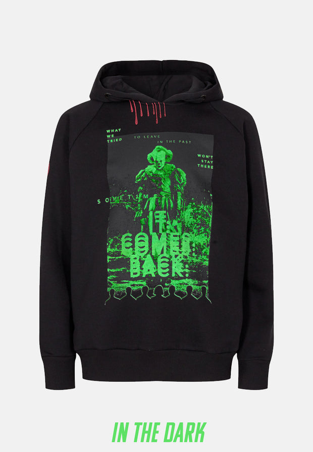 IT Pennywise Hoodie - Black 🌚 (Lyser i Mørke)-2-FirstGrade