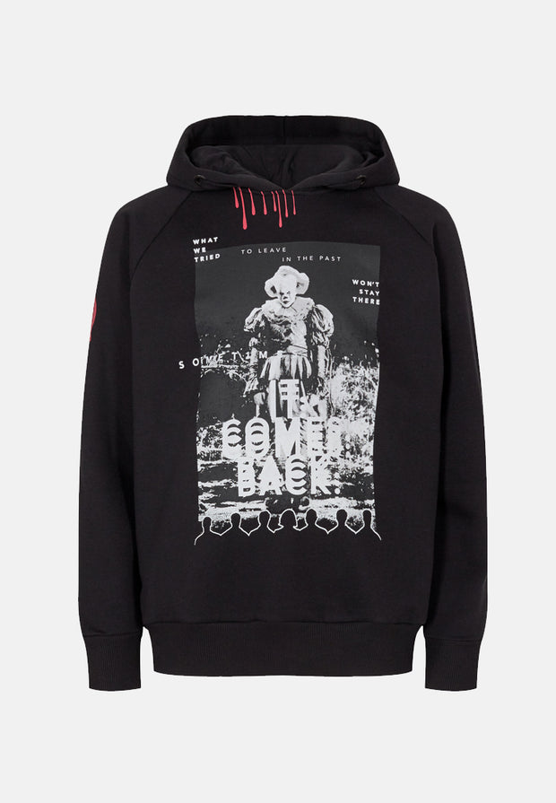 IT Pennywise Hoodie - Black 🌚 (Lyser i Mørke)-1-FirstGrade