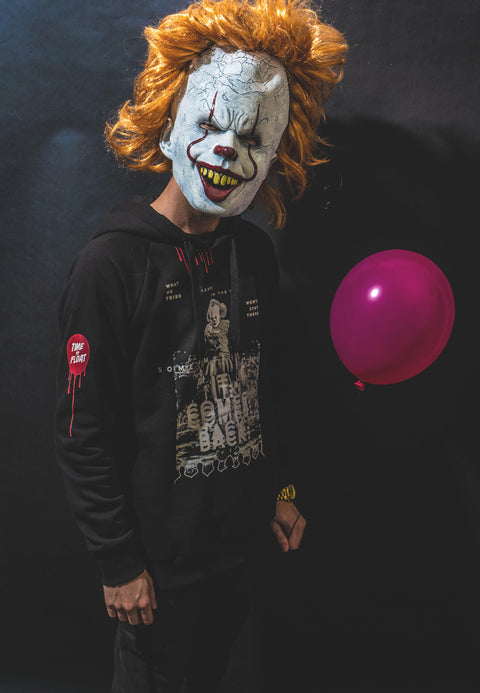 IT Pennywise Hoodie - Black 🌚 (Lyser i Mørke)-4-FirstGrade