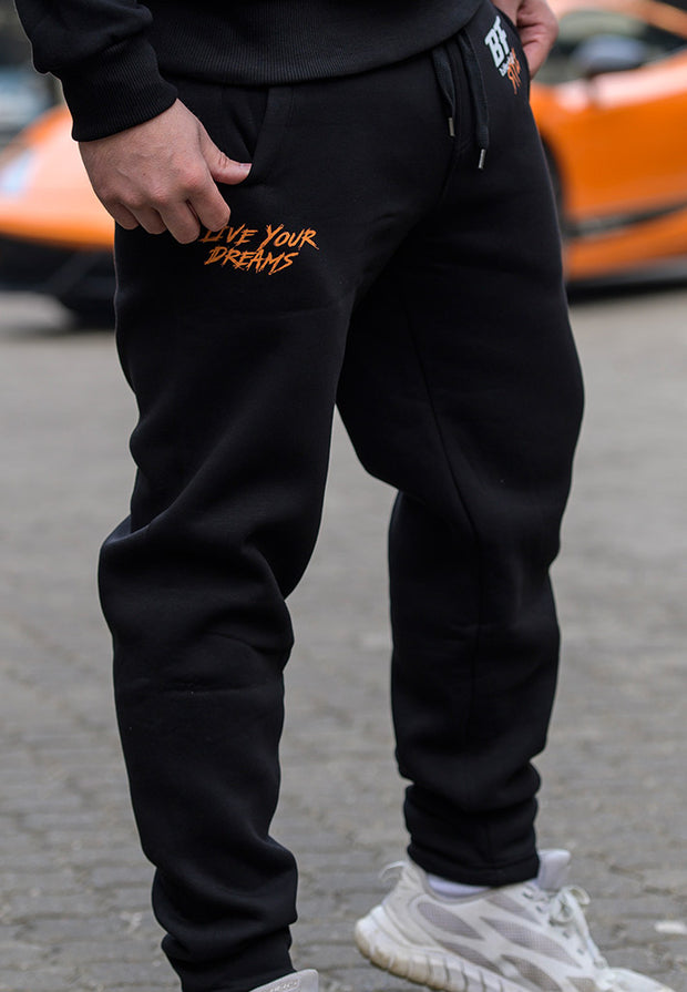 "BF Lifestyle ""Live Your Dreams"" Sweatpants - Black"