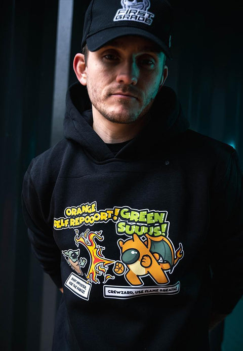 "Crewzard & Yoda ""AMONG US"" Fan-art - Sort Hoodie"