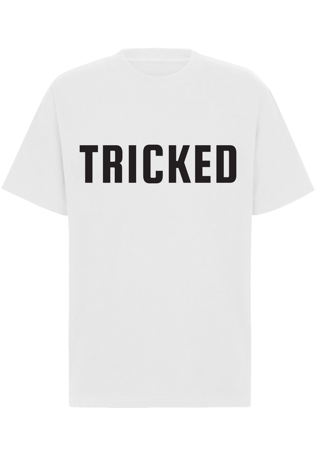 TRICKED / LETTER LOGO BIG - White Tee