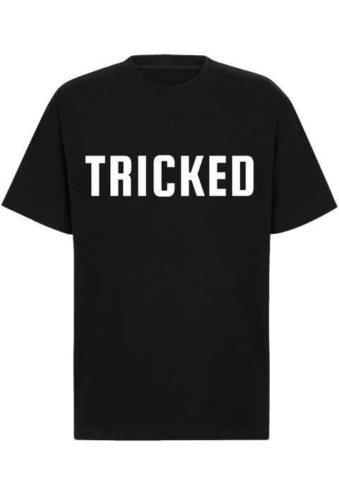 TRICKED / LETTER LOGO BIG - Black Tee