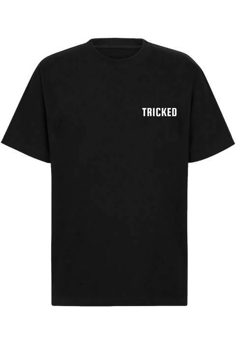 TRICKED / LETTER LOGO LEFT CHEST - Black Tee