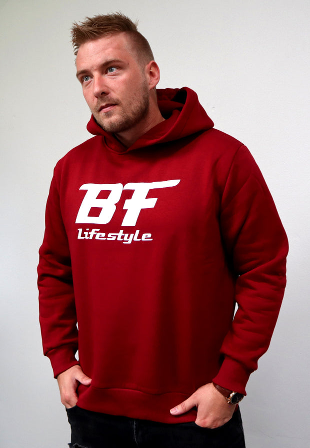 BF Lifestyle Hoodie - Bordeaux