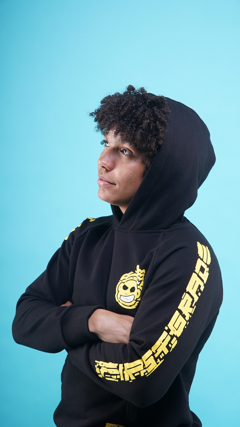 "FirstGrade ""Error"" Hoodie - Black/Yellow"
