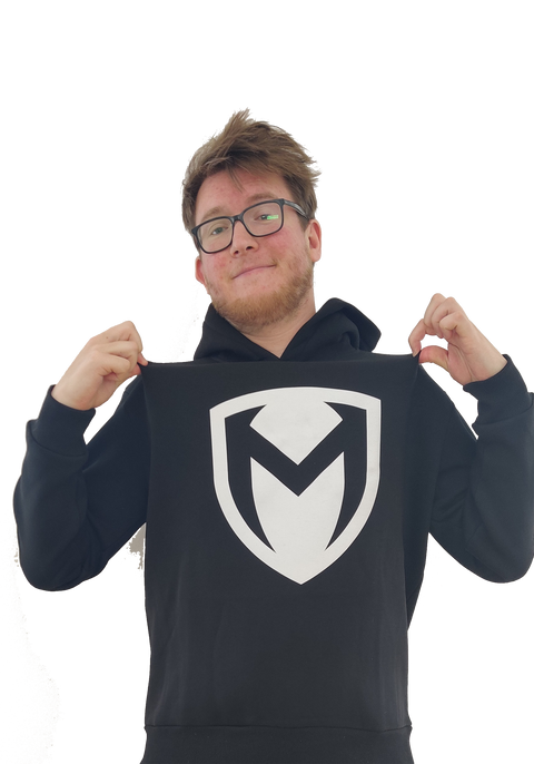 "Official ""Rizc Maknitude"" Stort Logo - Sort Hoodie"