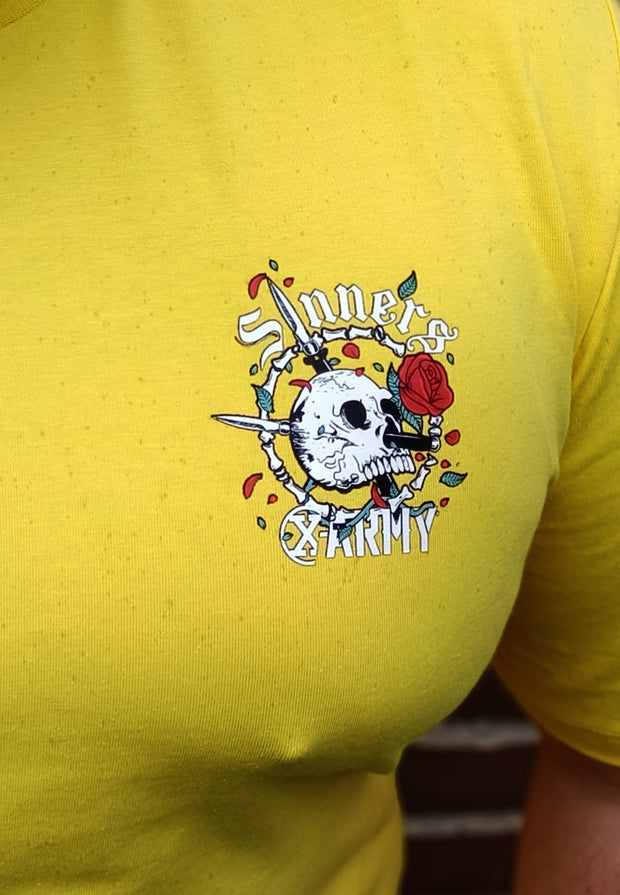 SINNERS Badge Tee - Yellow