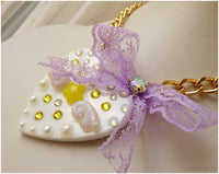 Kawaii Statement Necklace, Fairy Kei, Pastel Jewelry, Magical Girl, Decoden