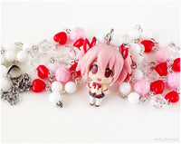 Puella Magi Madoka Magica Rosary Necklace, Sweet Lolita, Kawaii Jewelry, Magical Girl, OOAK