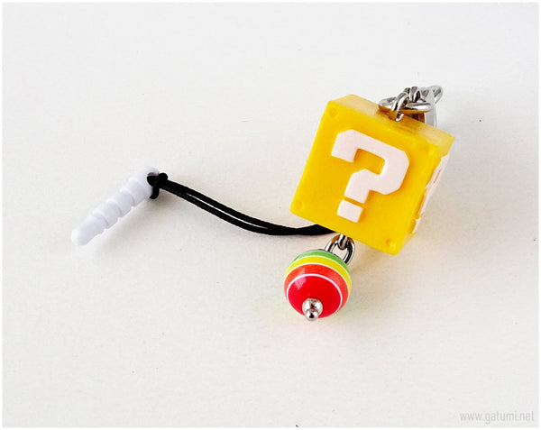 Super Mario Bros Mystery Block Zipper Pull, Phone Charm, Keychain, Kawaii Accessories