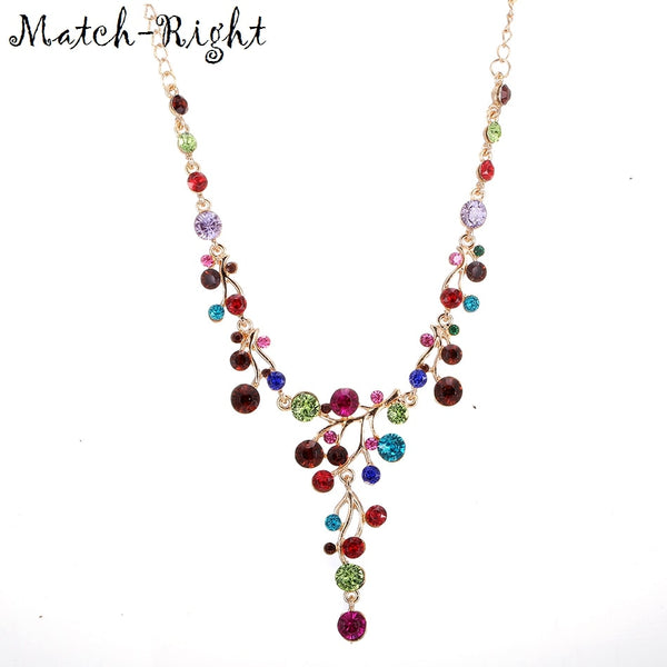 Match-Right Women Maxi Necklaces & Pendants Statement Custome Colorful Necklace With Pendant for Women Cute Jewelry NL-628