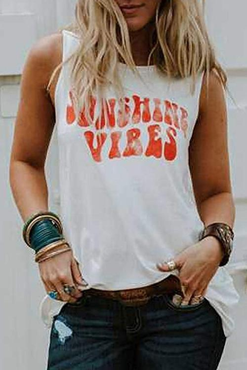 Sunshine Vibes Loose Tank Top