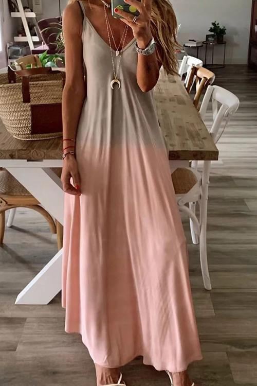 Gradient Slip Maxi Dress