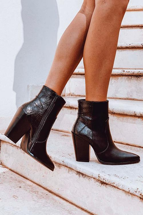 High Heel Pointed Toe Boots