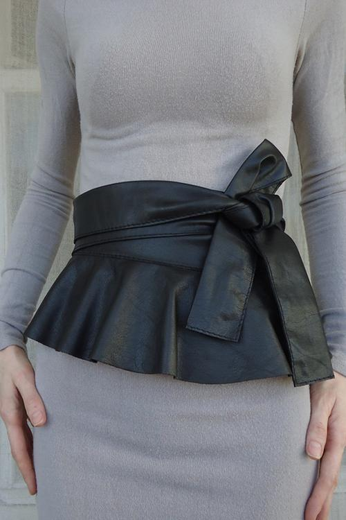 PU Skirts Knot Belt