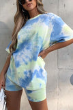 Tie Dye Short Sleeve T Shirt Short Set