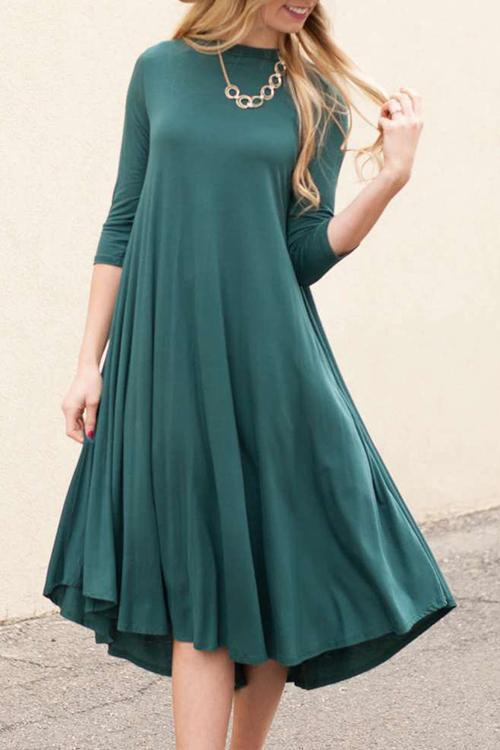 Long Sleeves A Line Dress