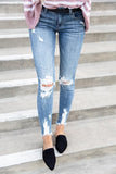 Distressed Hem Jeans