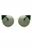 Cat Eye Mirror Flat Sunglasses