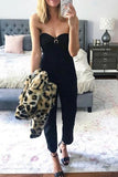 Off Shoulder Pockets Jumpsuit