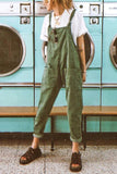 Pockets Loose Sleeveless Jumpsuit