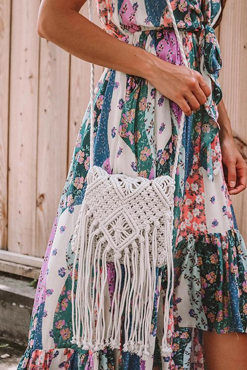 Weave Tassels Shoulder Bag