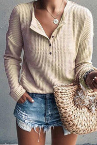 Simple Button Sweat Shirt