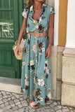 Button Floral Print Maxi Dress