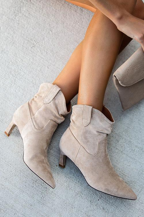 Pointed Low Heel Ankle Boot